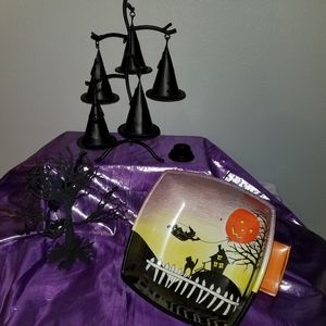 Halloween tealight witch hat tree.